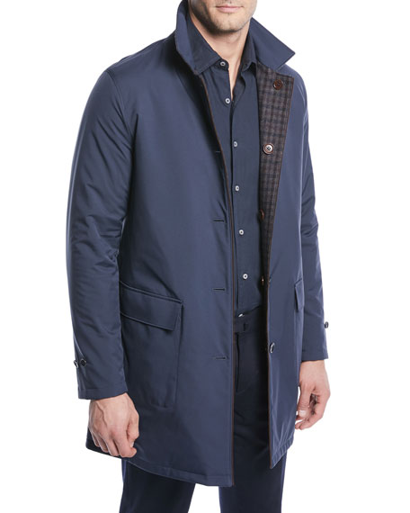 Loro Piana Men's Reversible Plaid Coat and Matching