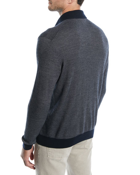 Men's Dalston Cashmere-Wool Polo Shirt
