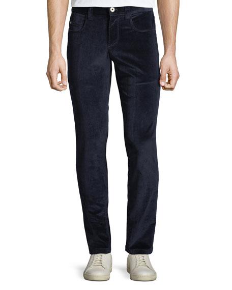 Loro Piana Men's Tasche 5-Pocket Slim-Fit Corduroy Pants