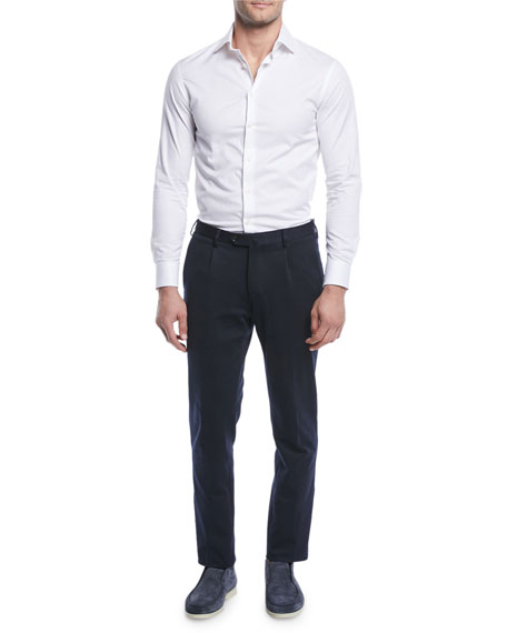 Men's Pleated Jersey Pants