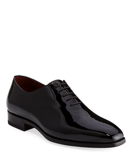 Magnanni for Neiman Marcus Men's One-Piece Patent Leather