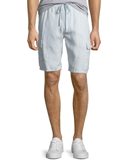 Men's Hemp Drawstring Cargo Shorts