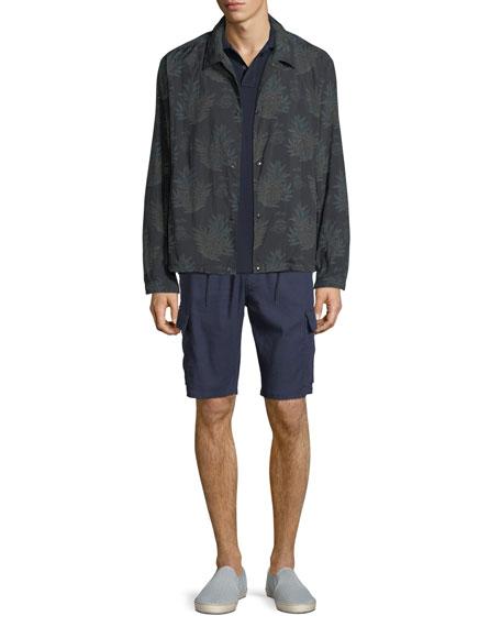 Men's Coaches Tropical-Print Nylon Jacket