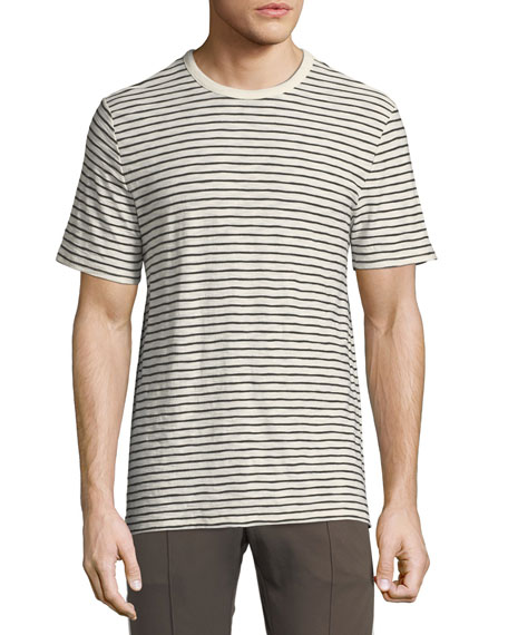 Men's Reverse Striped Pima Crewneck T-Shirt