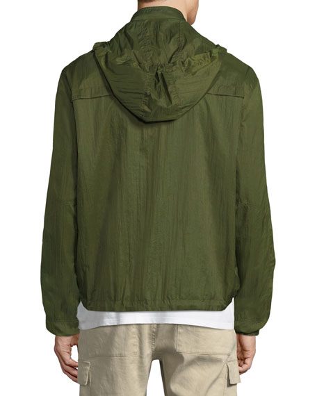 Men's Hooded Zip-Front Wind-Resistant Jacket