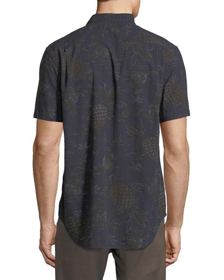Men's Pineapple Tropical-Print Short-Sleeve Sport Shirt