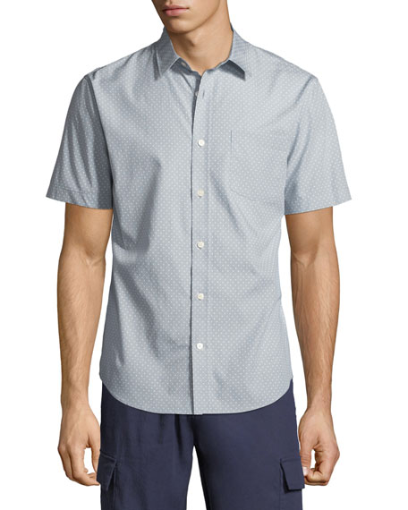 Men's Micro Stars Short-Sleeve Sport Shirt