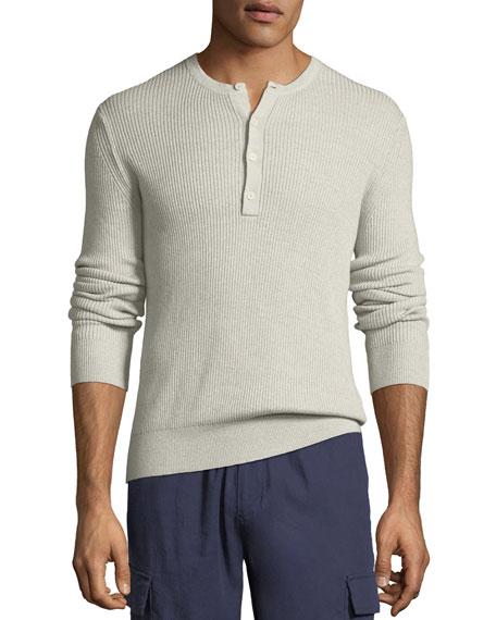 Men's Ribbed Henley Shirt