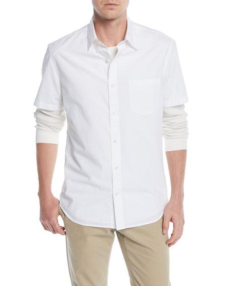 Men's Poplin Short-Sleeve Sport Shirt