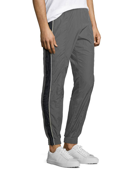 Colorblocked Nylon Track Pants