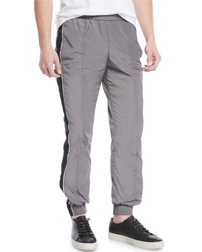 Colorblocked Nylon Track Pants