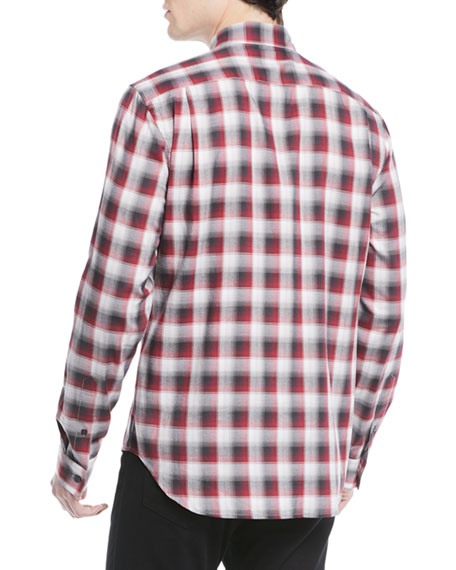 Men's Shadow Plaid Sport Shirt