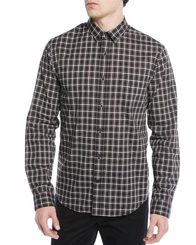 Men's Two-Tone Plaid Pocket Sport Shirt