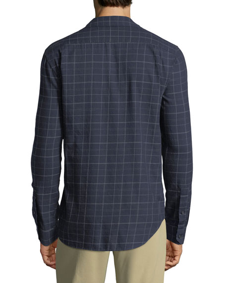 Men's Grid-Plaid Sport Shirt
