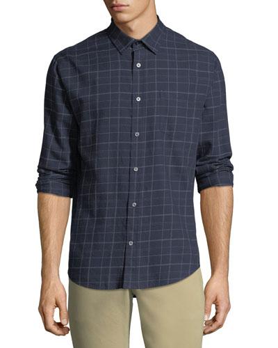 Men's Grid-Plaid Sport Shirt