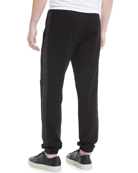 Men's Mixed-Media Sweatpants