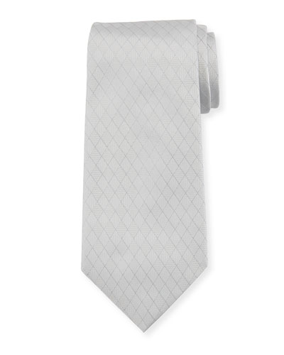 Alternating Diamond Silk Tie
