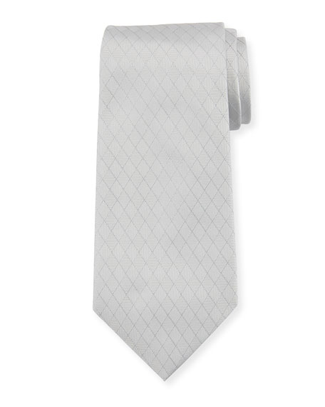 Emporio Armani Alternating Diamond Silk Tie