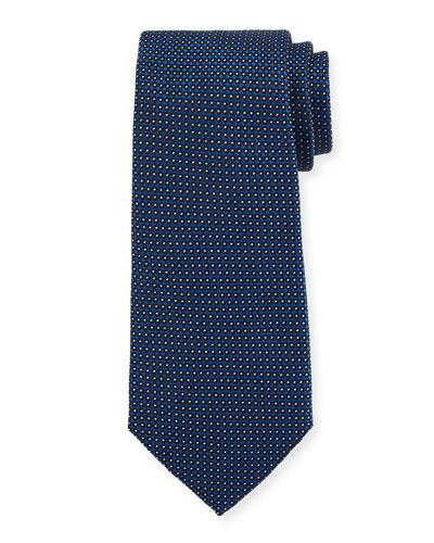 Neat Dot Silk Tie, Blue
