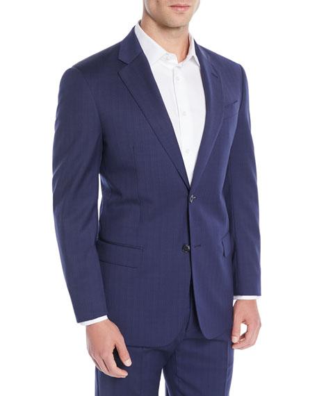 Men's Two-Piece Wool Broken-Sharkskin Suit