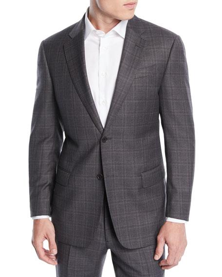 Emporio Armani Men's Windowpane Wool Two-Piece Suit