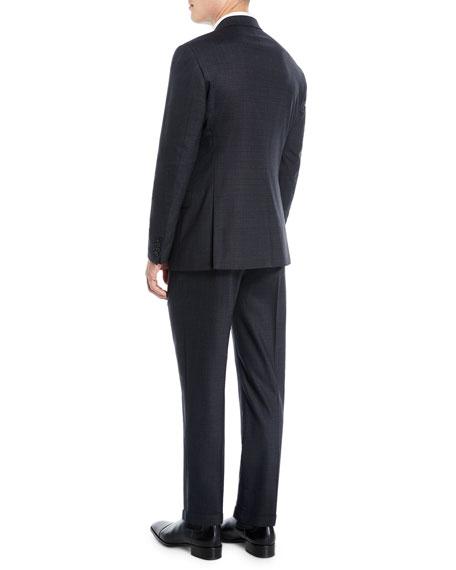 Men's Melange Two-Piece Wool-Stretch Suit