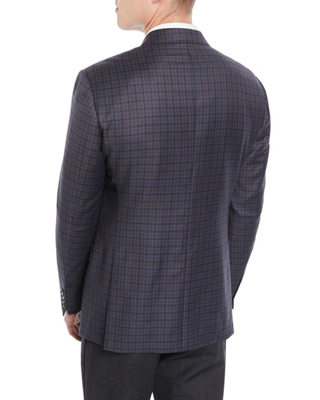 Men's Tricolor Plaid Wool Jacket