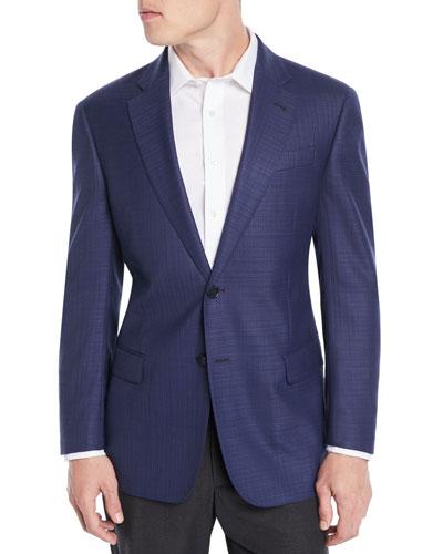 Men's Textured Wool Blazer