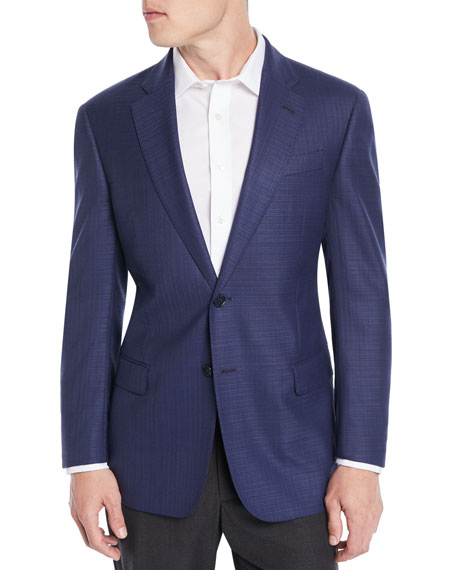 Men's Textured Wool Blazer