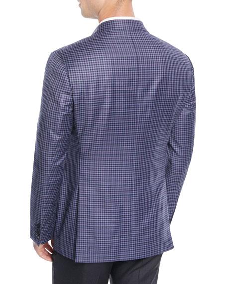 Men's Small-Check Wool Jacket