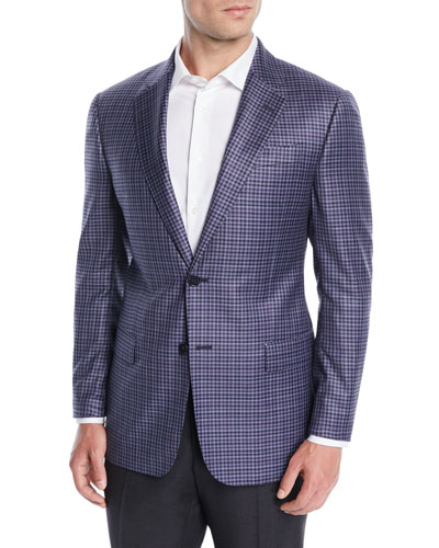 Men's Small-Check Wool Jacket