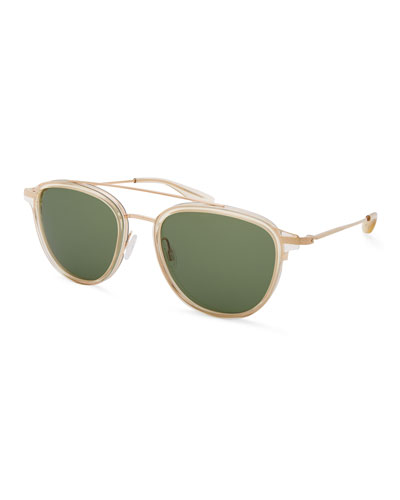 Men's Courtier Bottle-Green Sunglasses
