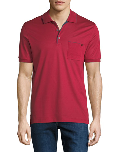 Men's Contrast-Trim Jersey Polo Shirt