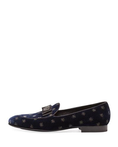 Men's Star Velvet Formal Slippers