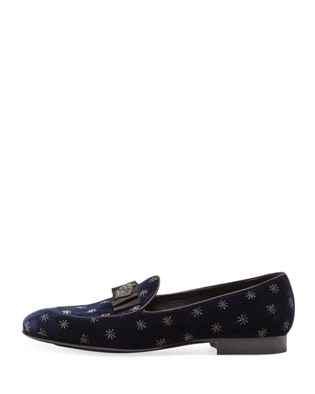 Men's Star Velvet Formal Slippers
