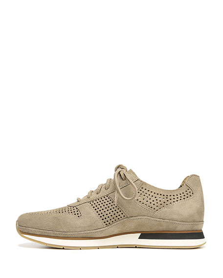 Men's Larson Peforated Suede Sneakers
