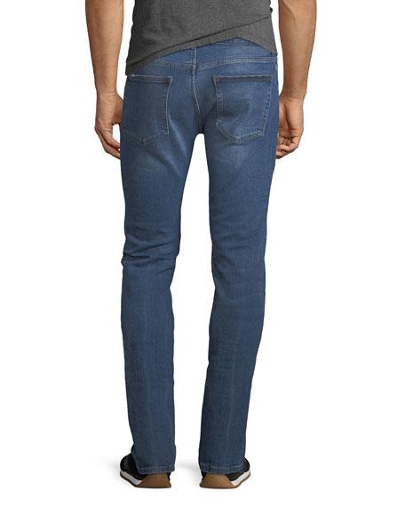 Men's Nick Slim-Leg Distressed-Knee Jeans, League