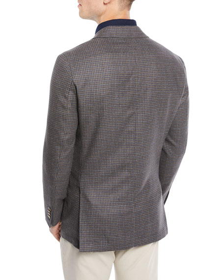 Men's Crown Soft Check Wool-Blend Blazer Jacket