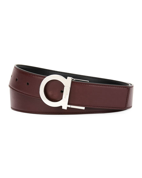 Salvatore Ferragamo Men's Gancio Reversible Leather Belt
