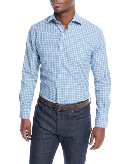 Peter Millar Men's Grimsey Crown Finish Check Sport