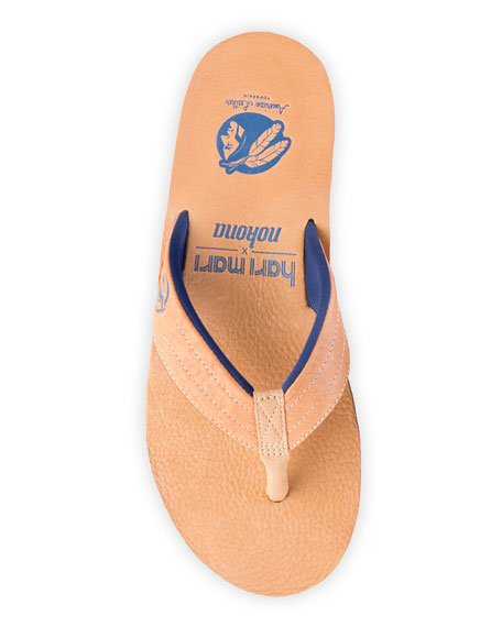 x Nokona Men's Leather Thong Sandals, Honey