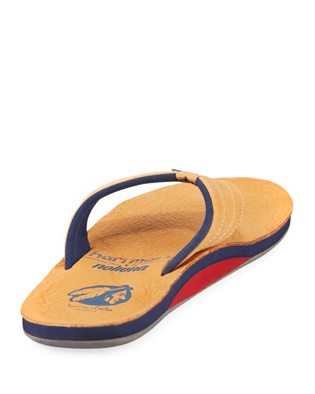 x Nokona Men's Leather Thong Sandals, Honey
