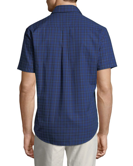 Men's Crown Ease Rhine Valley Tartan Short-Sleeve Sport Shirt
