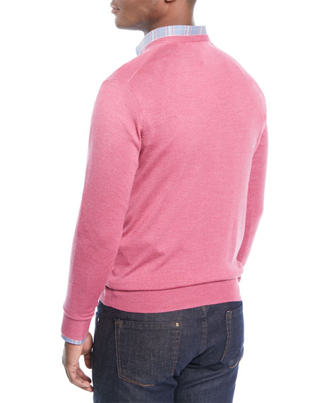 Men's Crown Soft Wool/Silk V-Neck Sweater