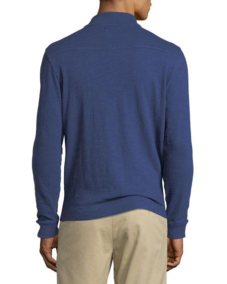 Men's Garment-Dyed Half-Zip Sweater