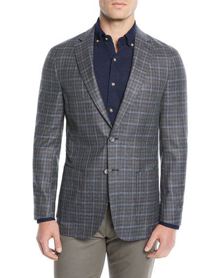 Peter Millar Men's Crown Soft Plaid Blazer Jacket