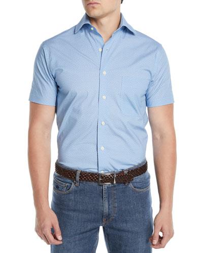 Men's Niblick Textured Short-Sleeve Sport Shirt