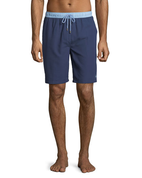 Peter Millar Men's Nautilus Two-Tone Swim Trunks