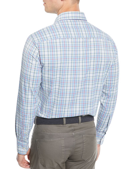 Men's Tattersall Performance Multi-Plaid Sport Shirt