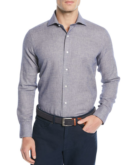 Men's Santorini Summer Birdseye Sport Shirt